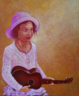 Pink Hat Ukelele Girl